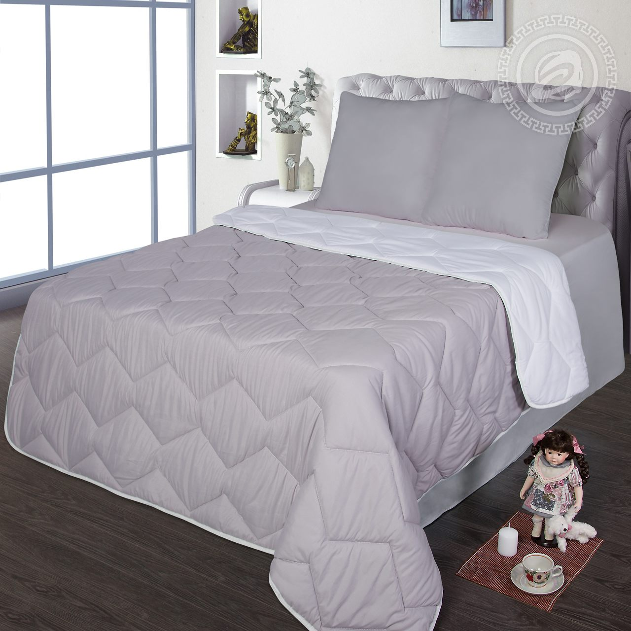 "Одеяло ""Comfort Серый"" р. Евро — Comfort Серый"