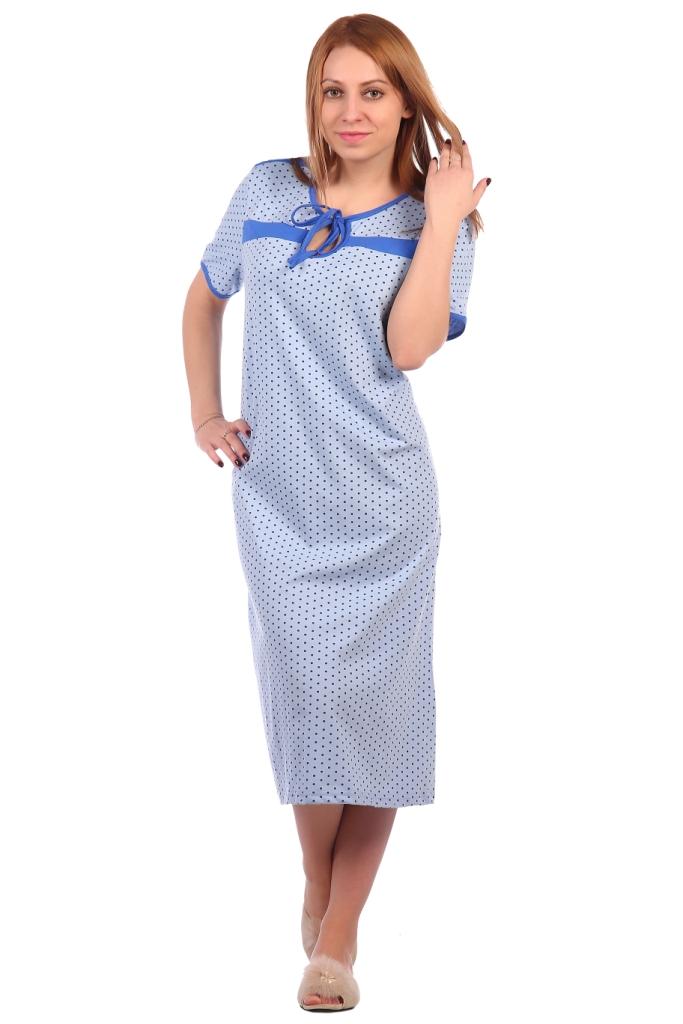 Жен. сорочка арт. 16-0291 Голубой р. 64 ЕленаТекс