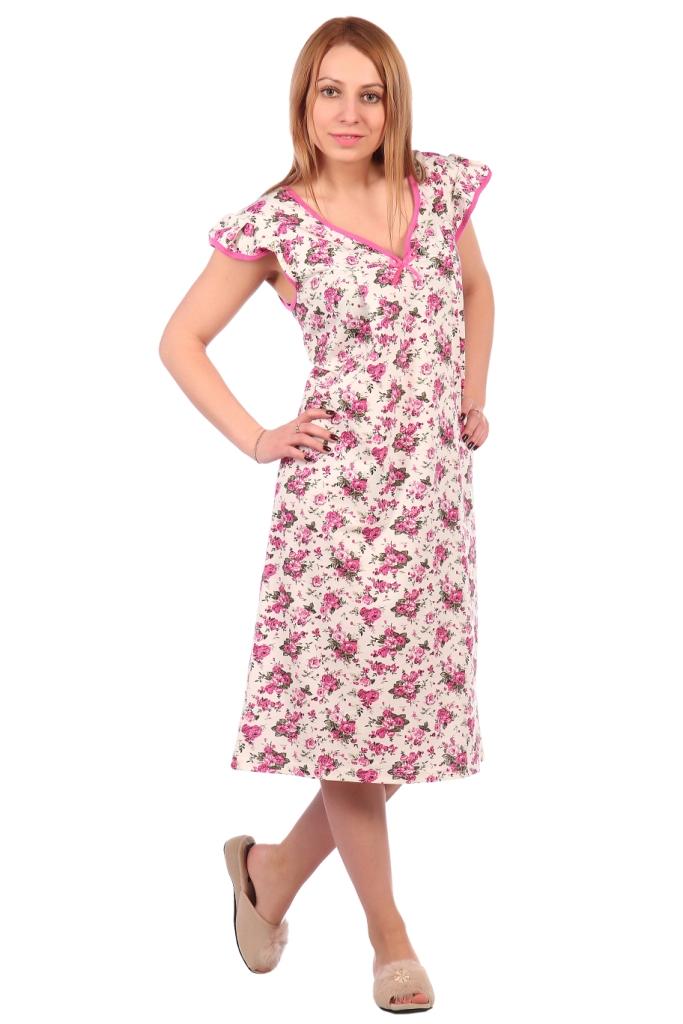 Жен. сорочка арт. 16-0516 розовый р. 50