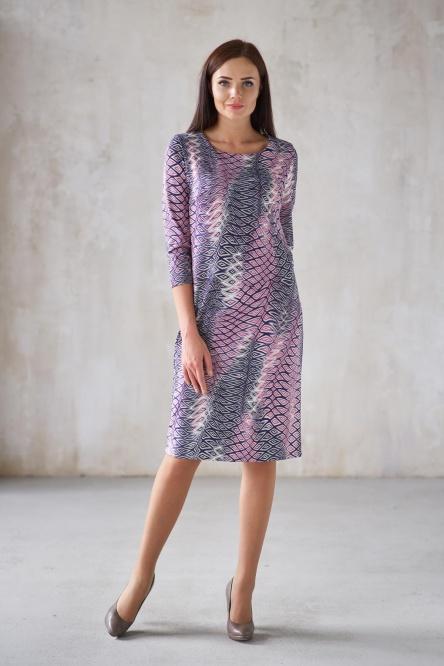 Жен. платье арт. 19-0300 Индиго р. 42 фото