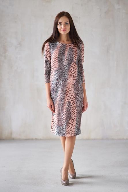 Жен. платье арт. 19-0300 Бежевый р. 42 фото