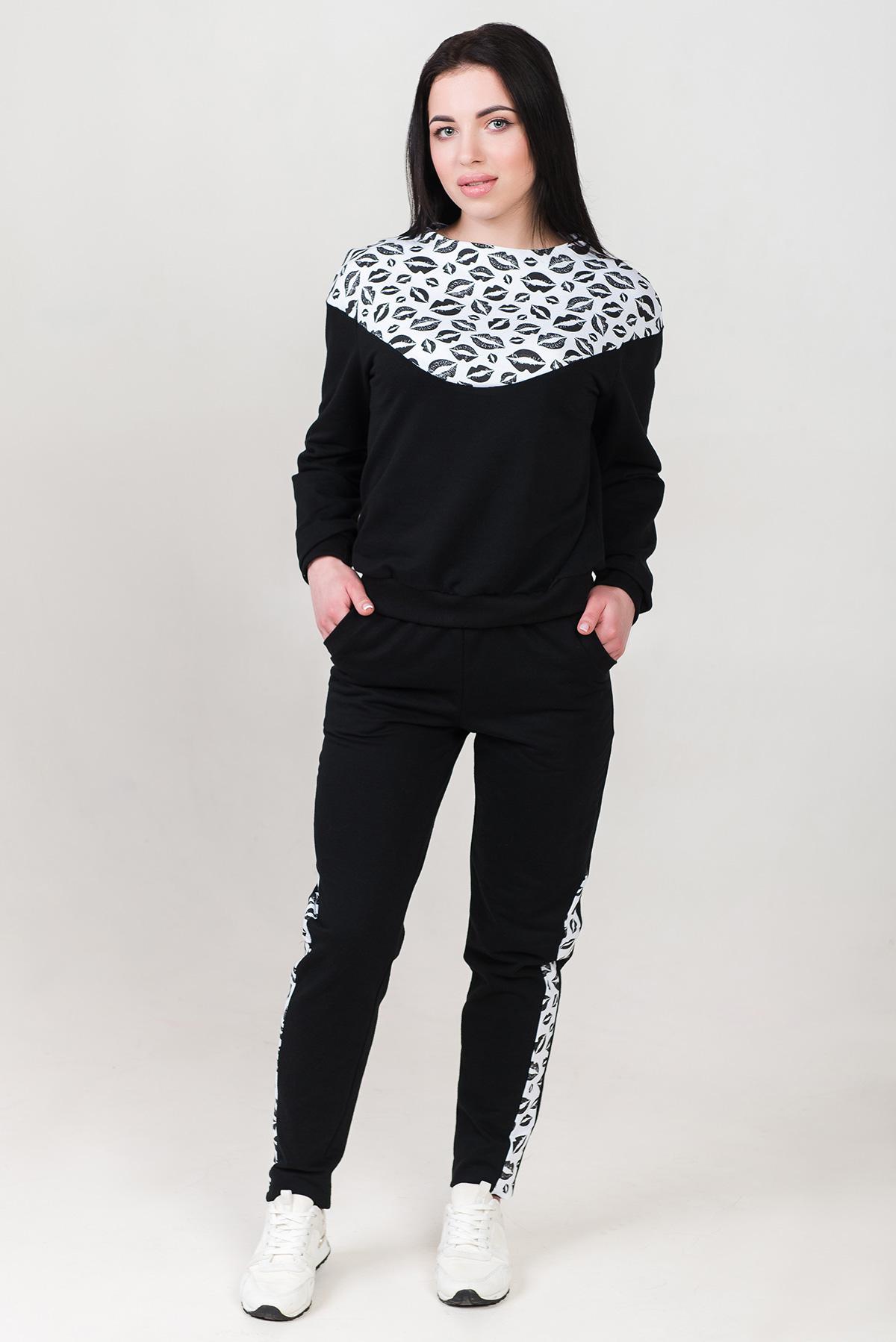 Жен. костюм арт. 19-0296 Черный р. 44 Шарлиз