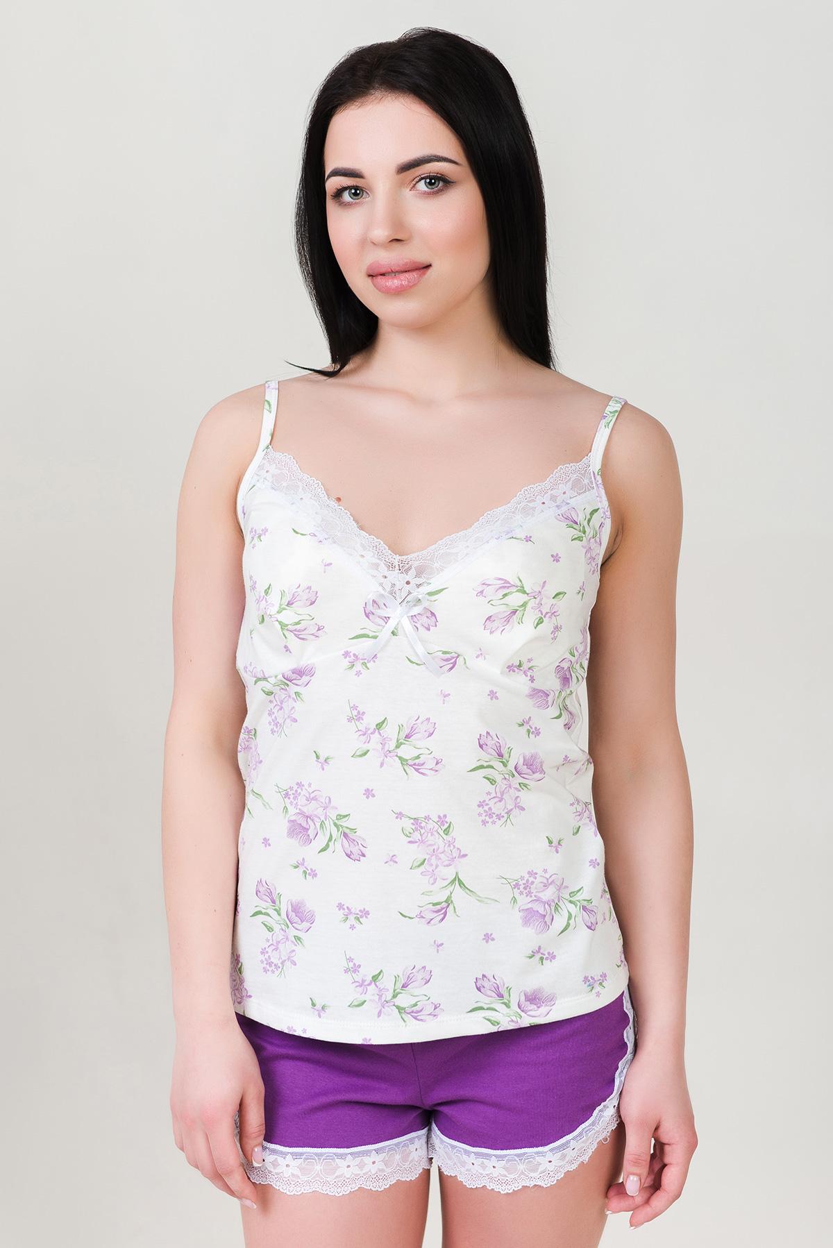 Жен. пижама арт. 19-0292 Фиолетовый р. 50 Шарлиз