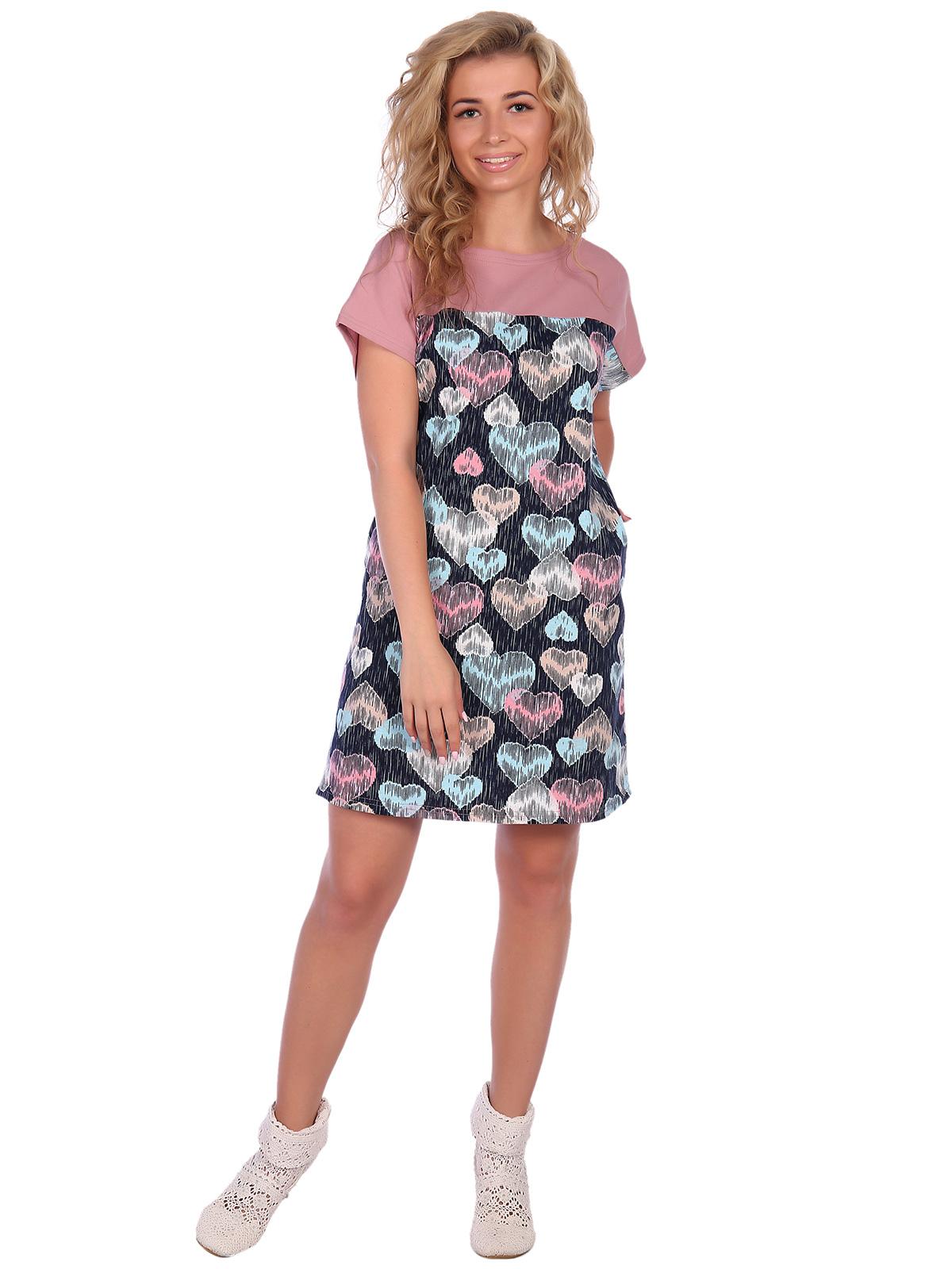 Купить со скидкой Жен. платье арт. 16-0572 Сухая роза р. 48