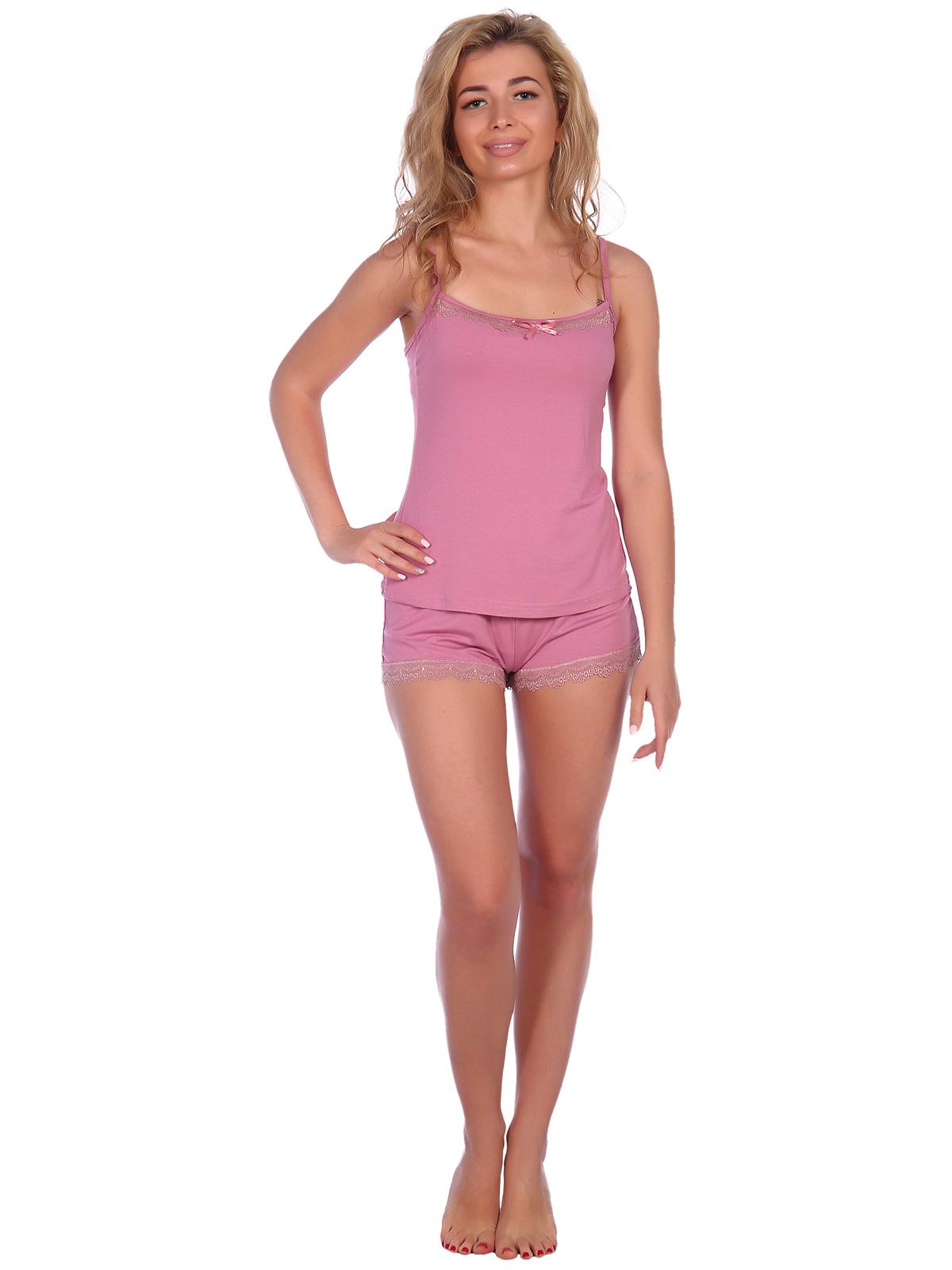 Жен. пижама арт. 16-0573 Розовый р. 52 НСД Трикотаж