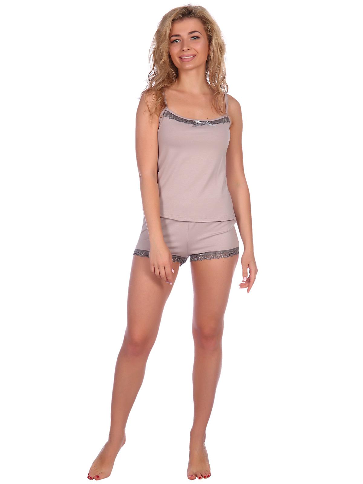 Жен. пижама арт. 16-0573 Серый р. 52 НСД Трикотаж