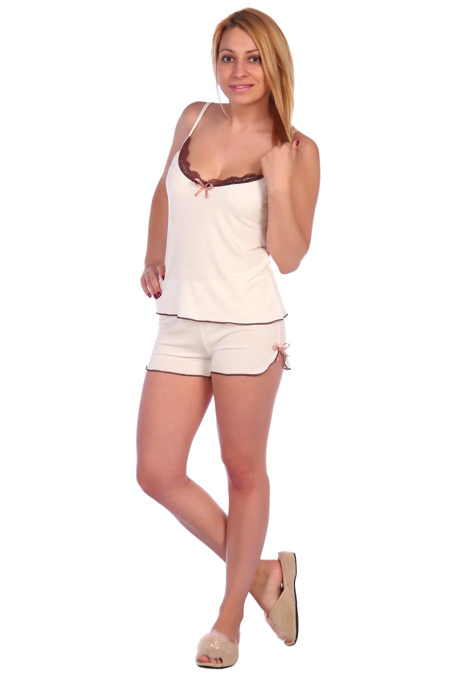 Жен. пижама арт. 17-0018 Молочный р. 50 фото