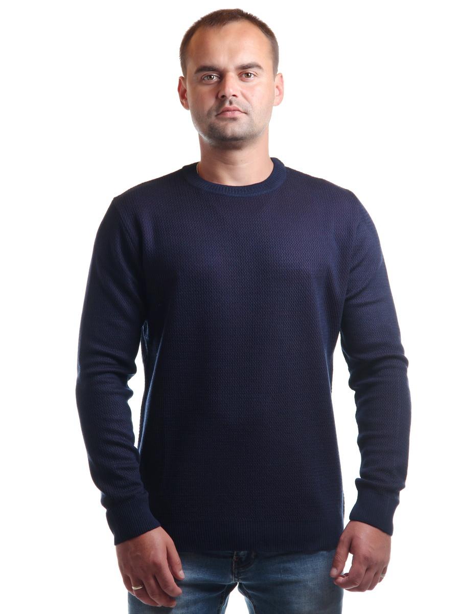 Муж. джемпер арт. 17-0043 Темно-синий р. 56 фото