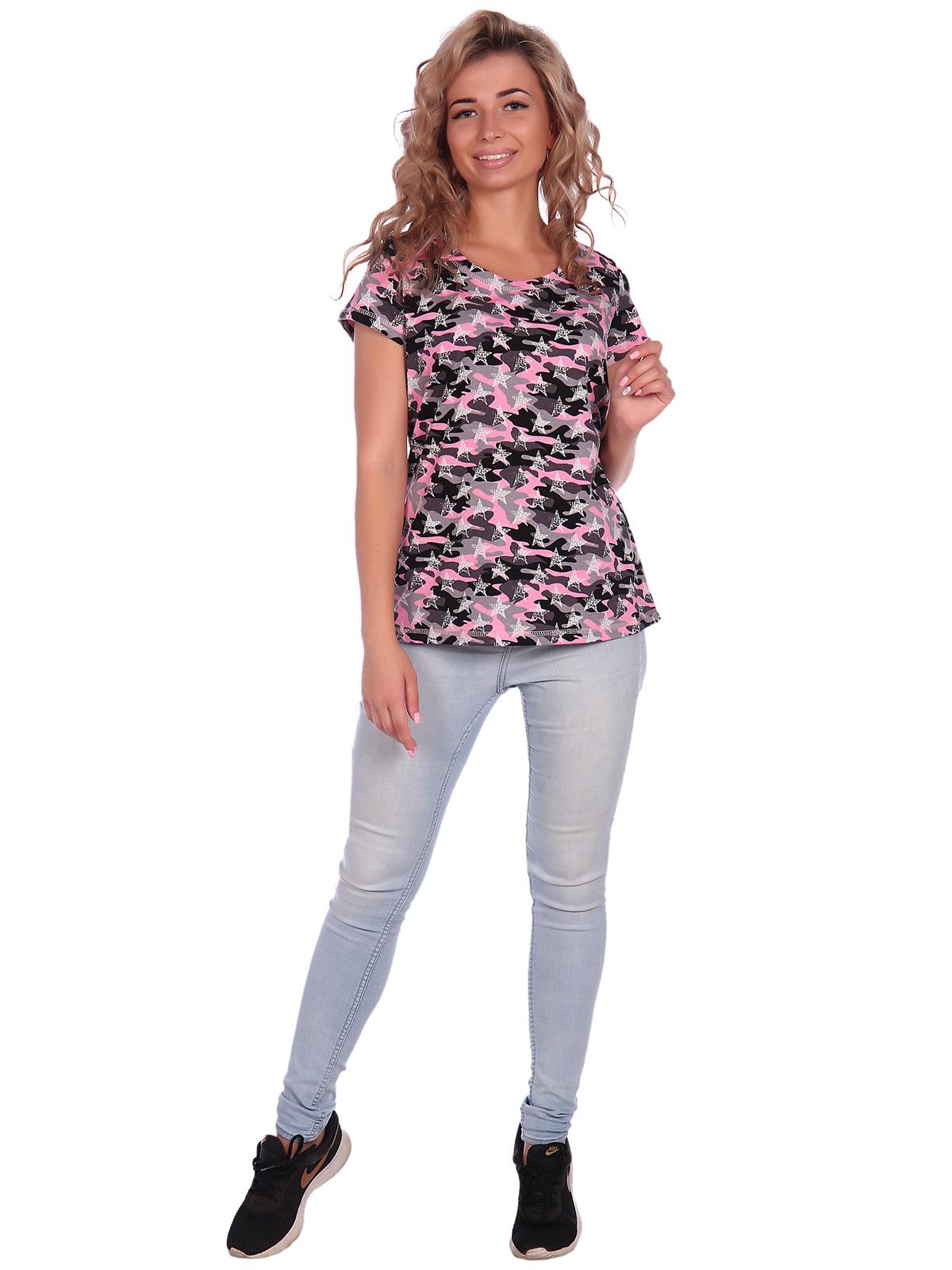 Жен. футболка арт. 16-0578 Розовый р. 44 фото