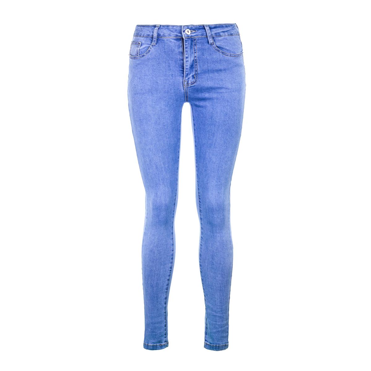 Жен. джинсы арт. 12-0155 Голубой р. 26