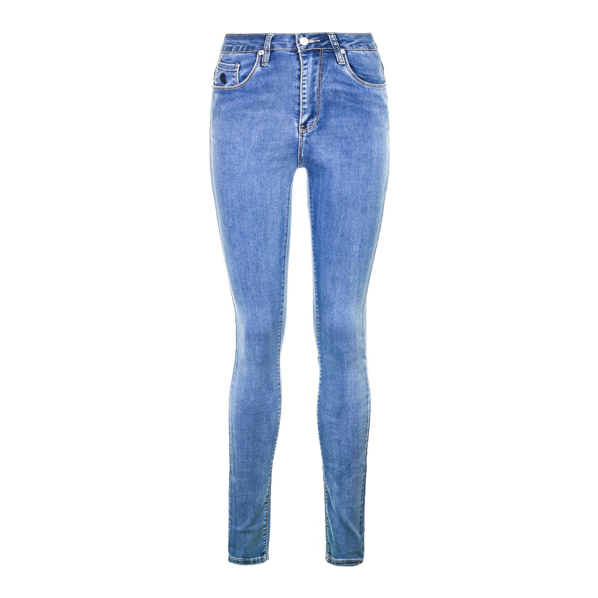 Жен. джинсы арт. 12-0086 Голубой р. 29