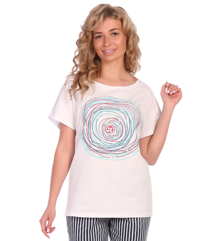 Жен. футболка арт. 16-0575 Белый р. 48 фото