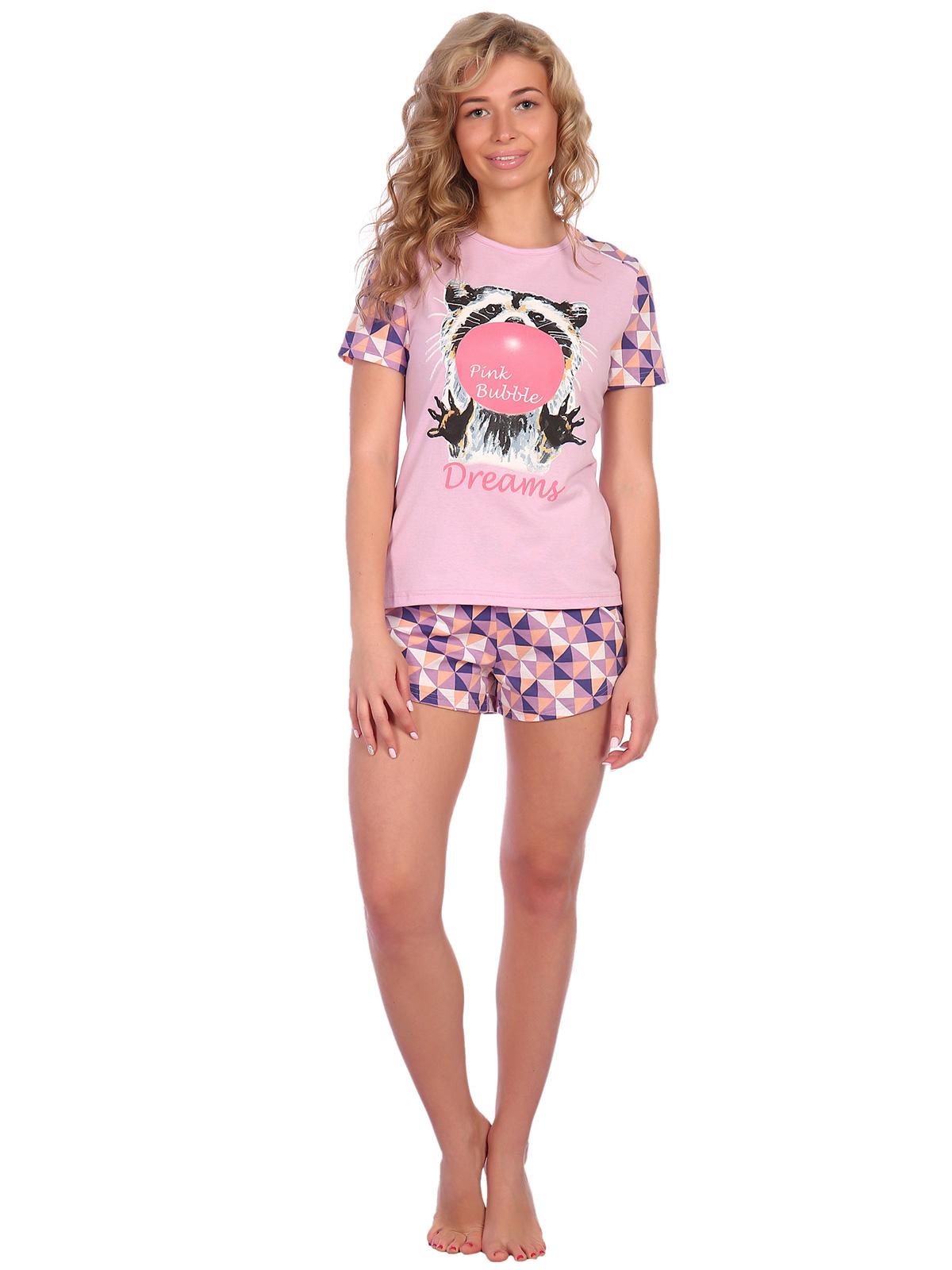 Жен. пижама арт. 16-0612 Лиловый р. 48 НСД Трикотаж