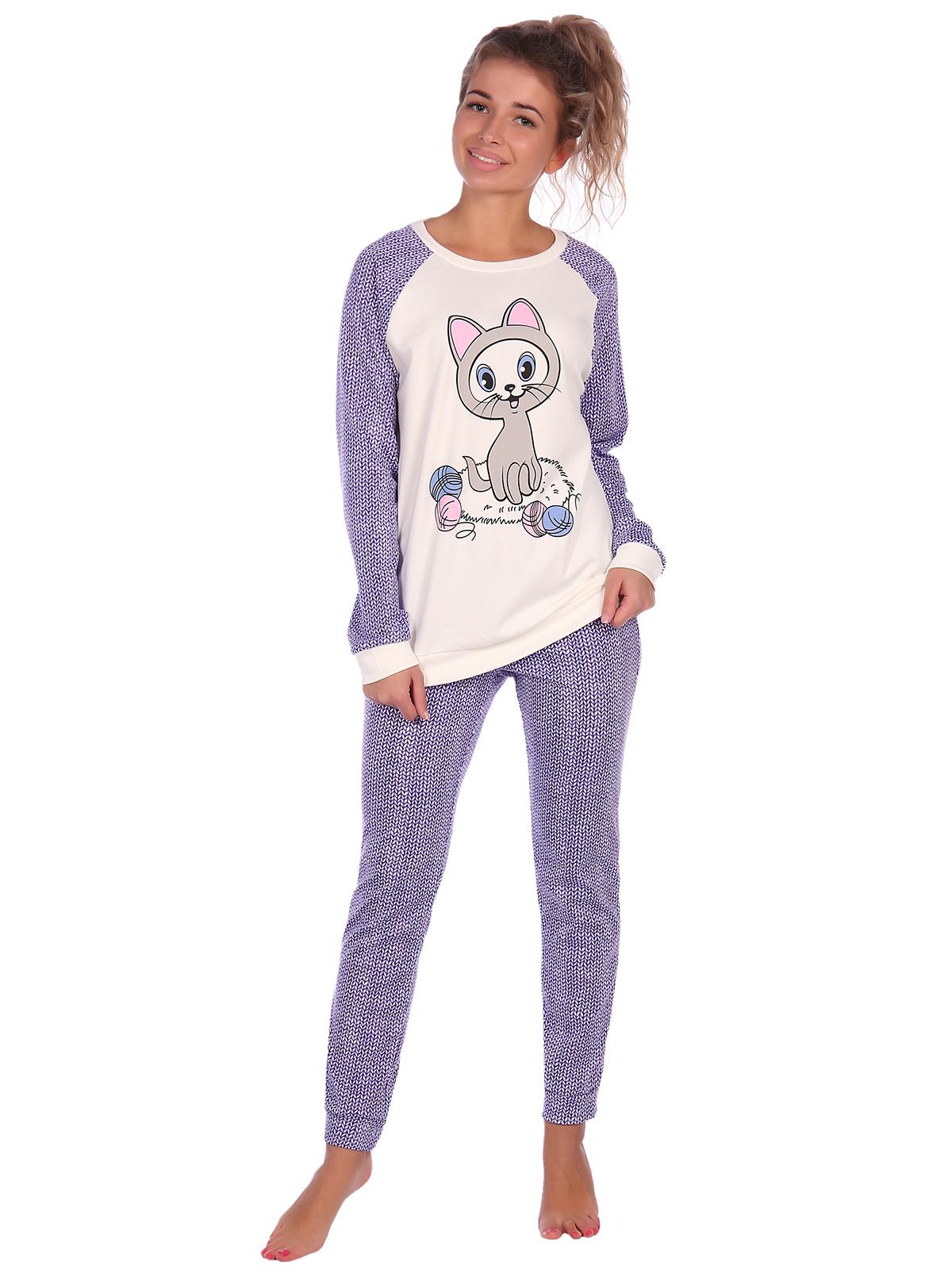 Жен. пижама арт. 16-0615 Фиолетовый р. 64 фото