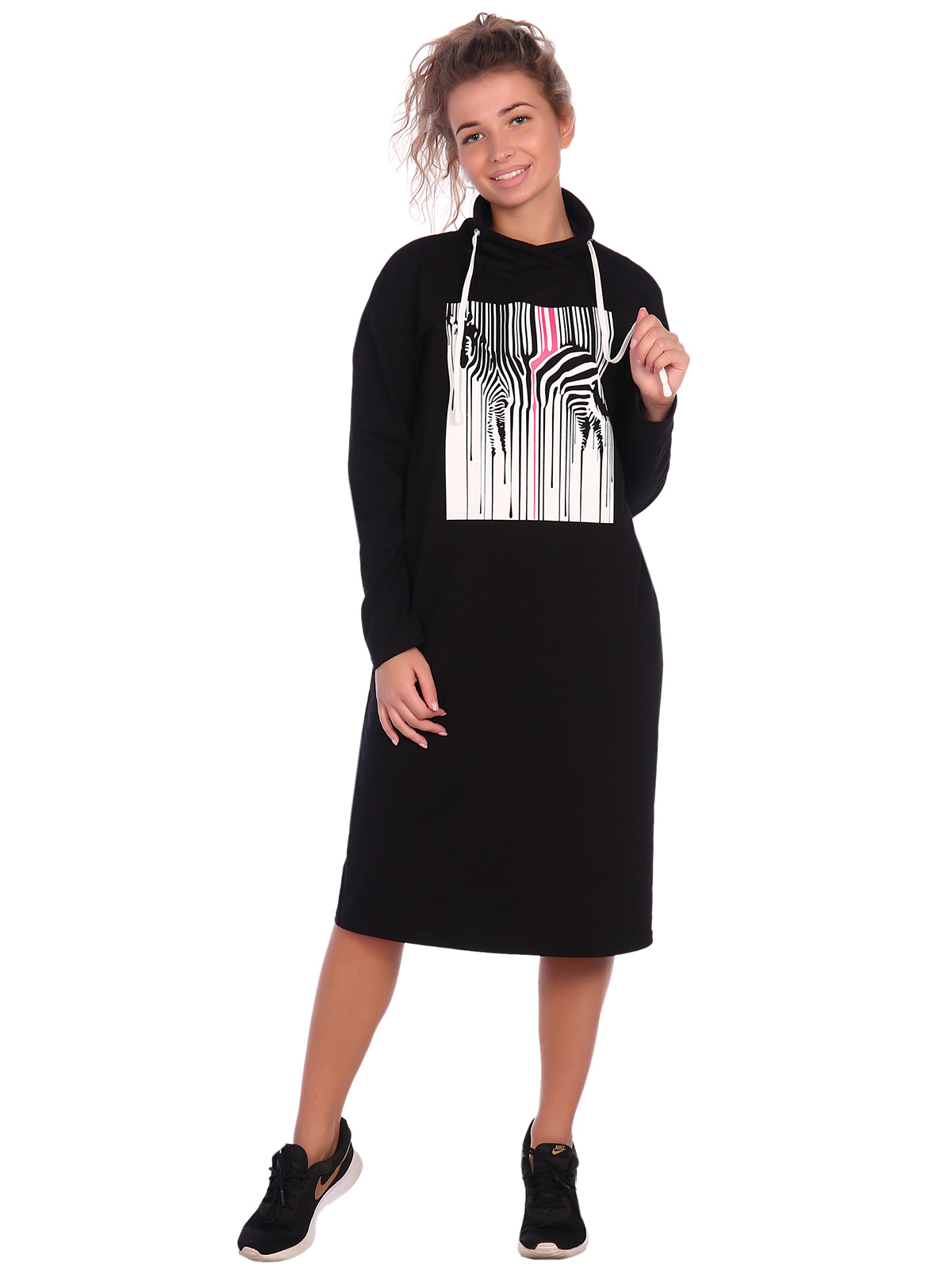 Жен. платье арт. 16-0620 Черный р. 58 фото