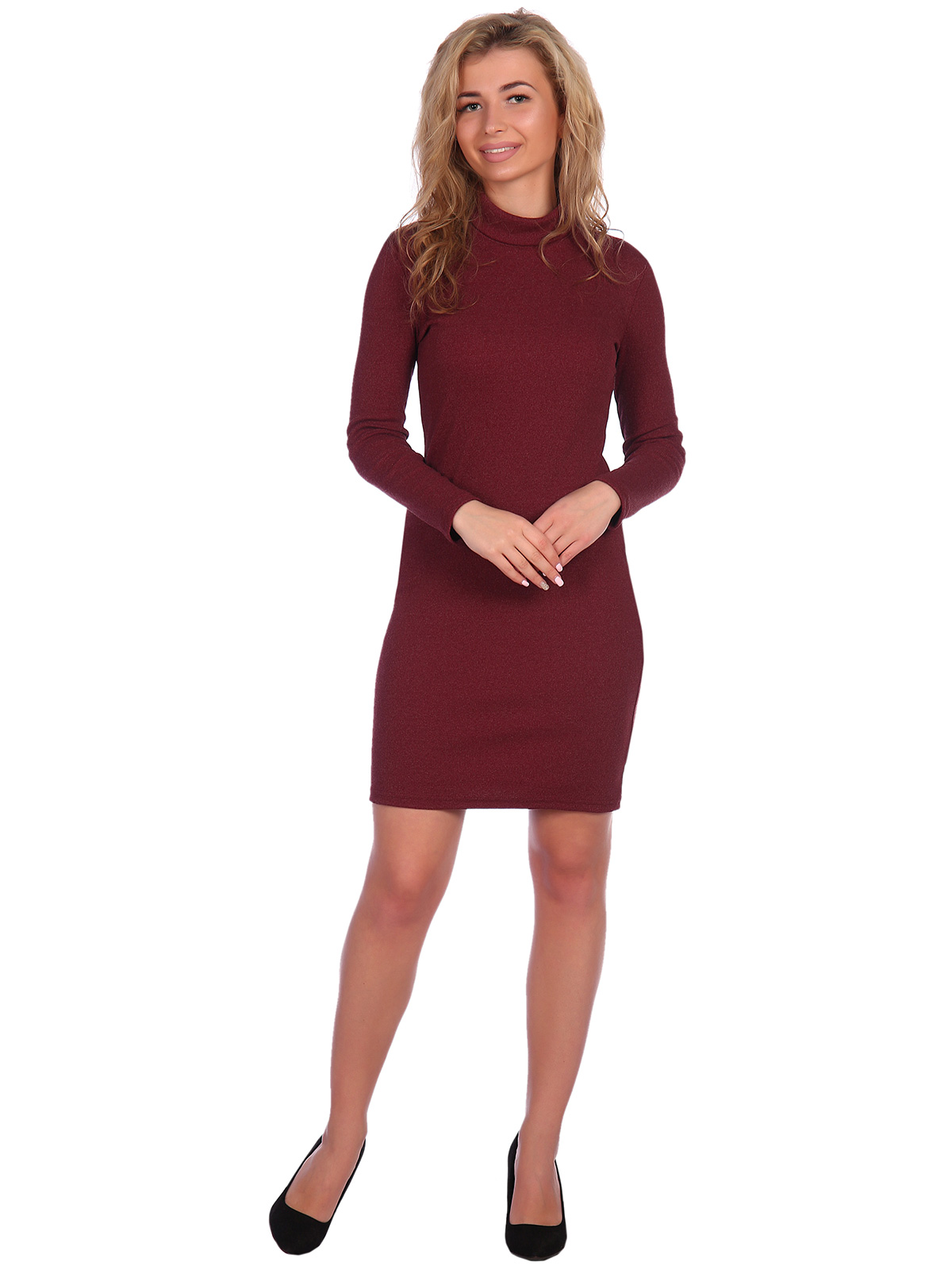 Жен. платье арт. 16-0621 Бордовый р. 46 фото