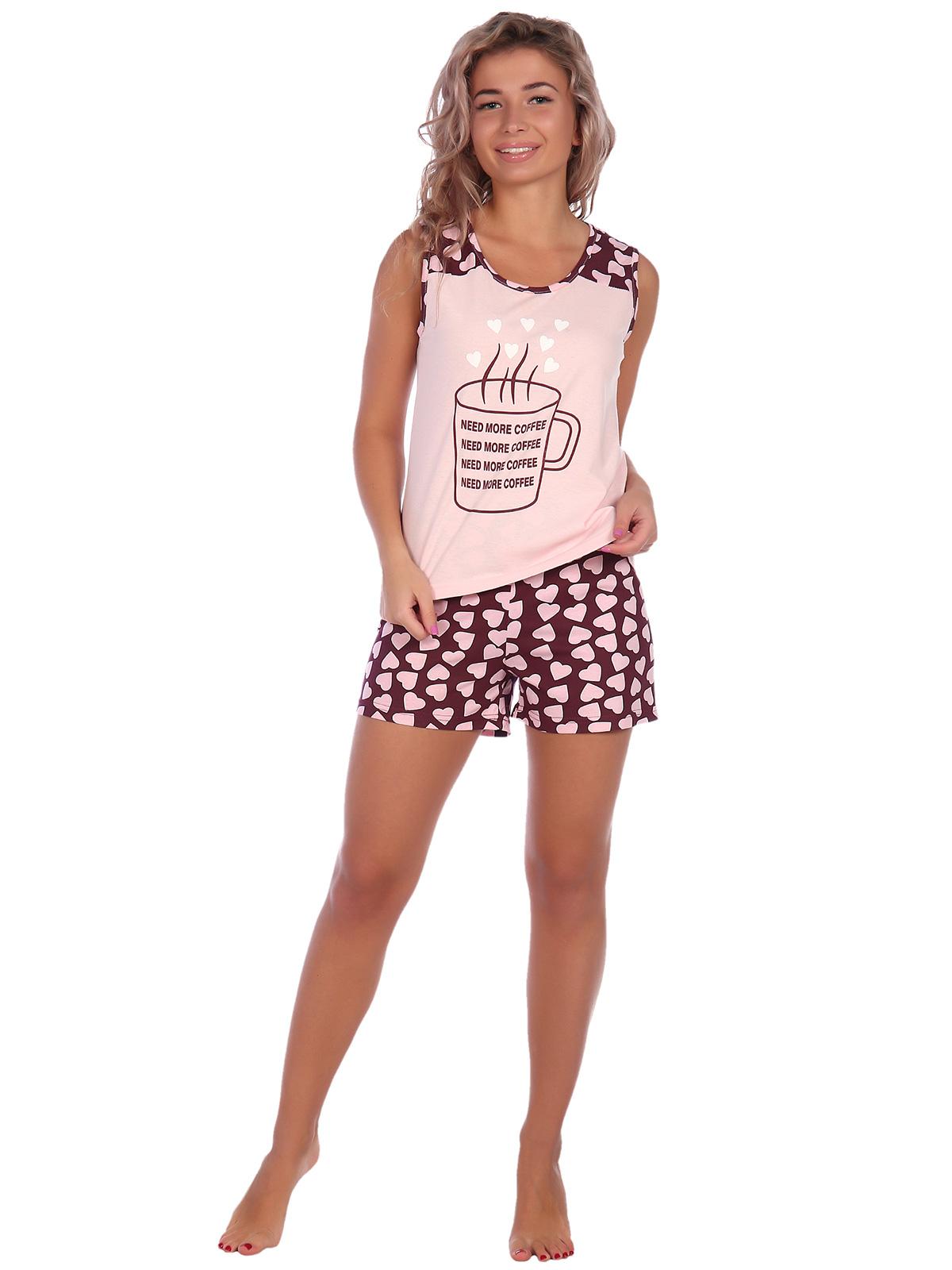 Жен. пижама арт. 16-0574 Бордо р. 44 фото