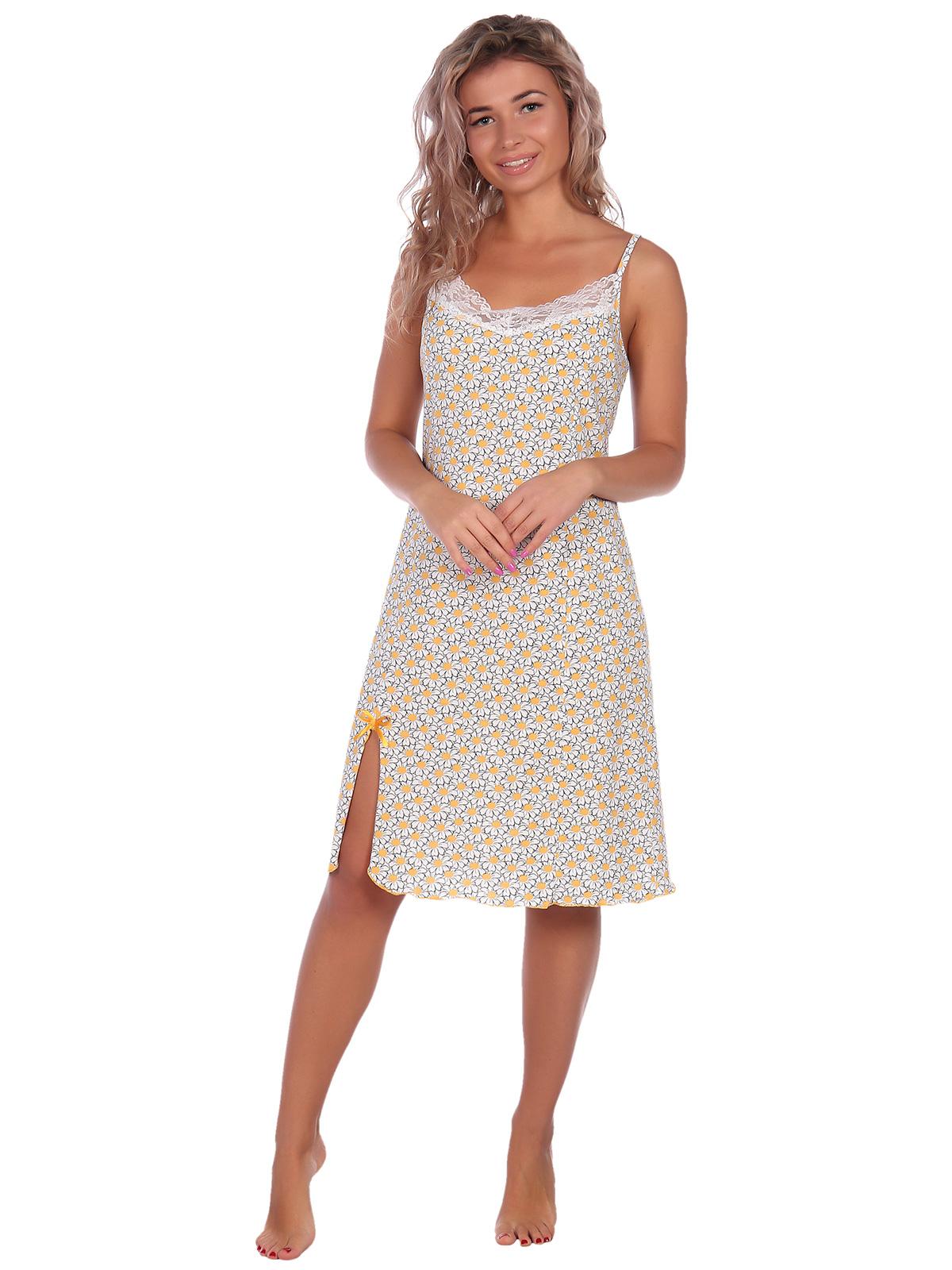 Жен. сорочка арт. 16-0555 Желтый р. 60 фото