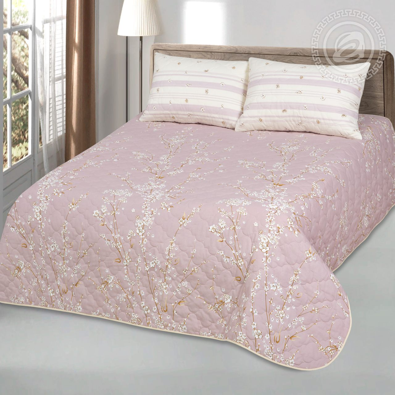 "Покрывало ""Сакура"" Розовый р. 200x215 — Сакура Розовый"