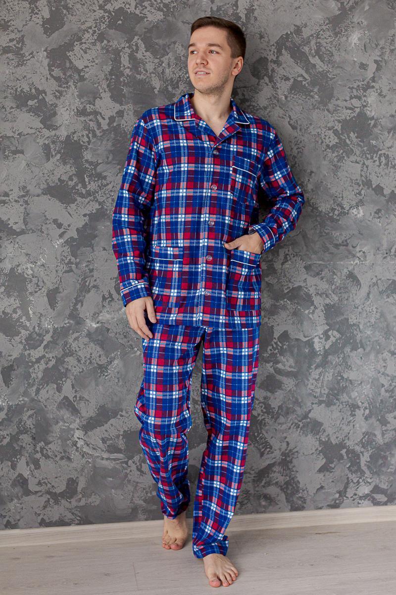 Муж. пижама арт. 18-0458 Красный р. 50 фото