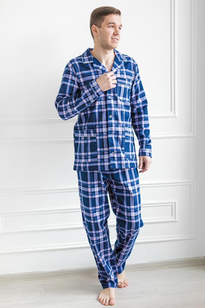 Муж. пижама арт. 18-0458 Синий р. 54 фото