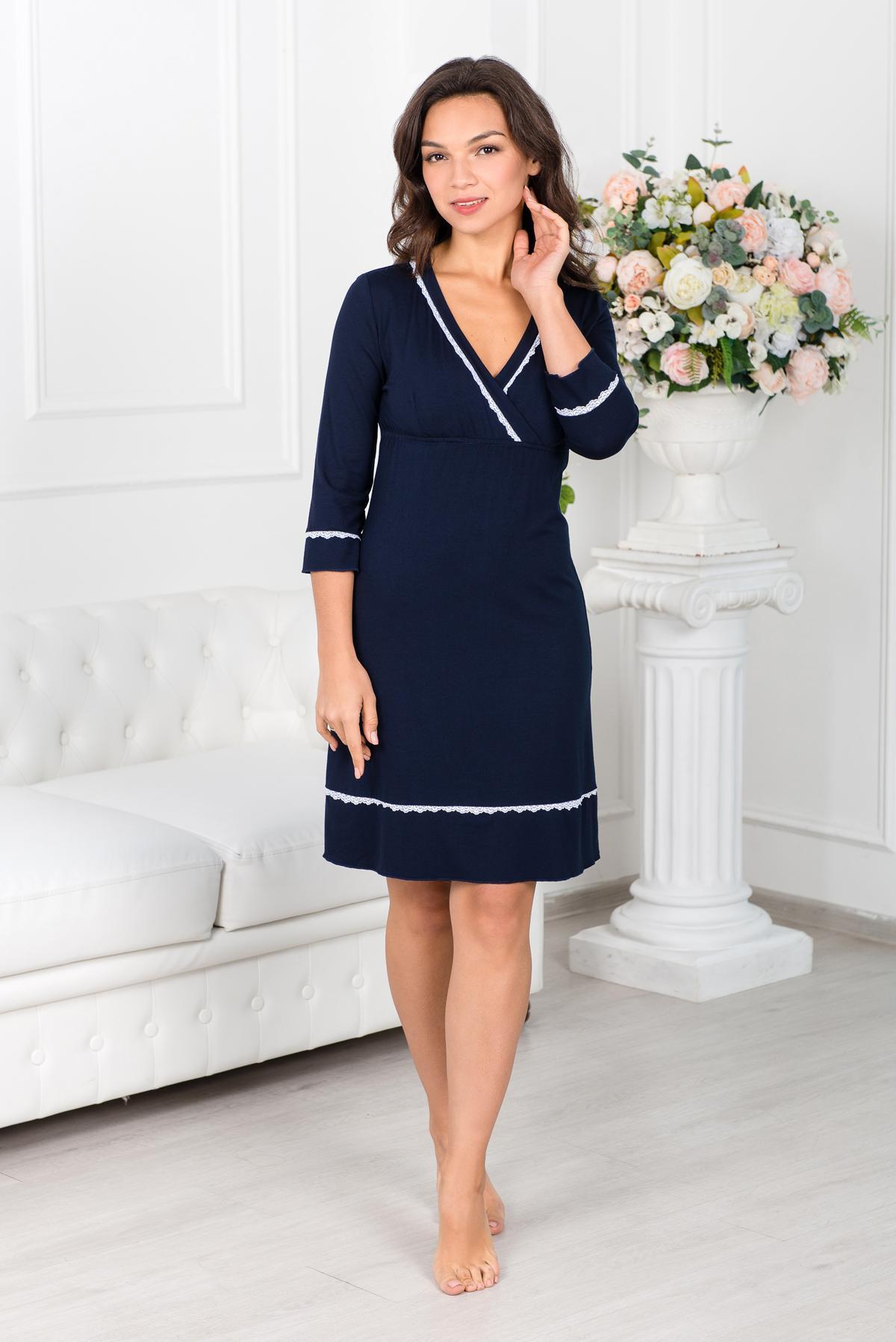 Жен. платье арт. 19-0345 Темно-синий р. 42 фото