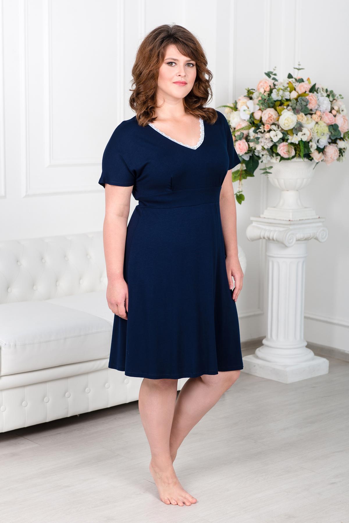 Жен. платье арт. 19-0344 Темно-синий р. 46 фото
