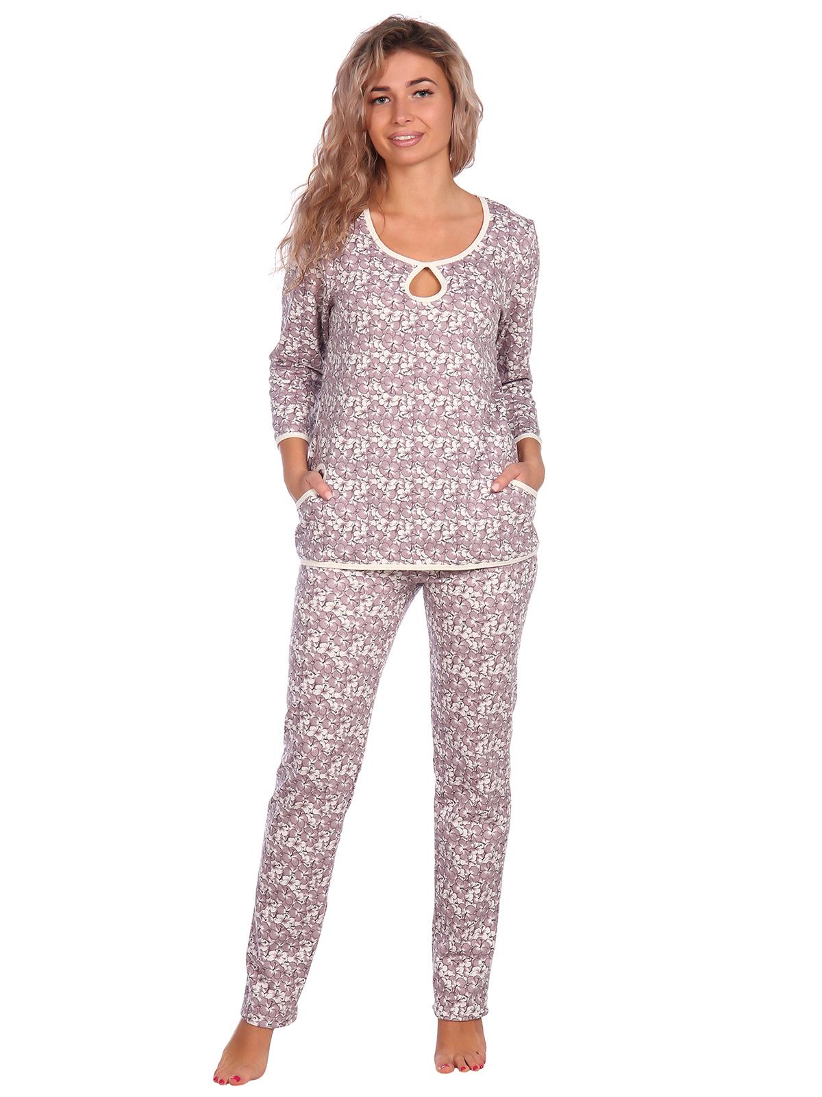 Жен. пижама арт. 16-0637 Кофейный р. 52 НСД Трикотаж