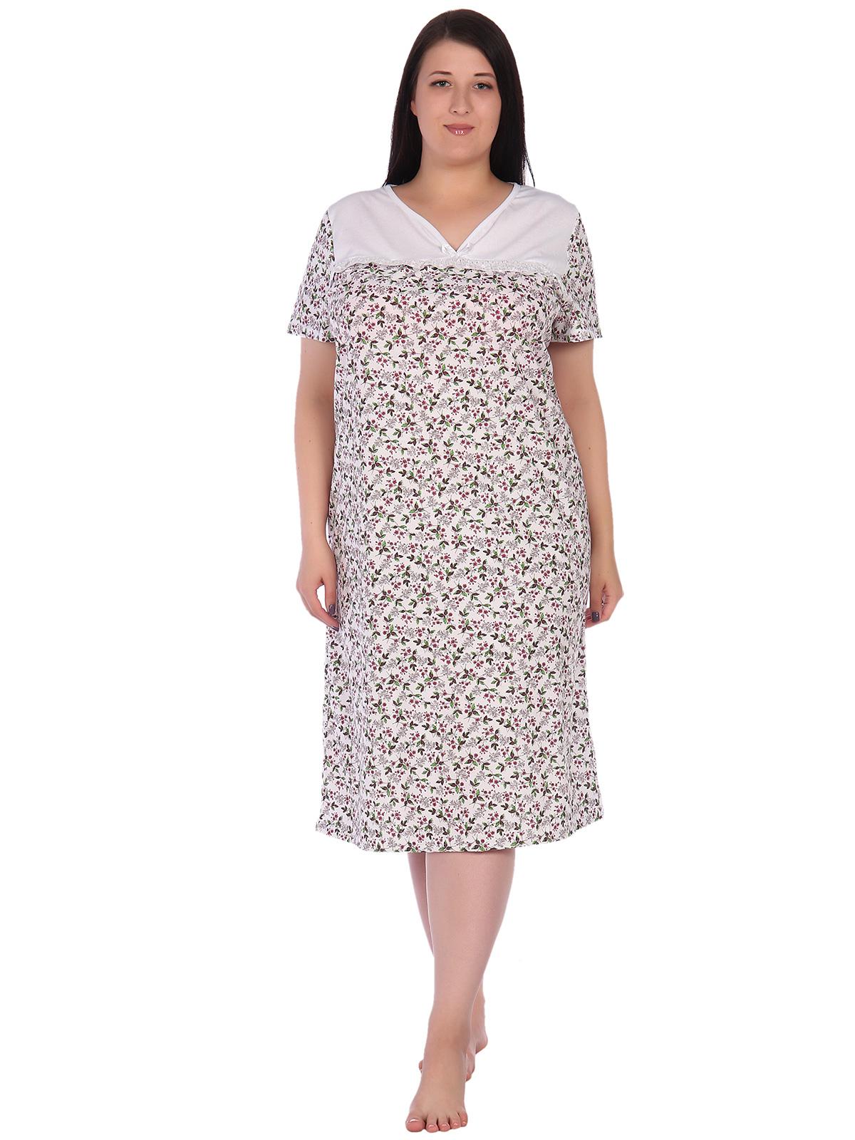 Жен. сорочка арт. 16-0639 Белый р. 60 НСД Трикотаж