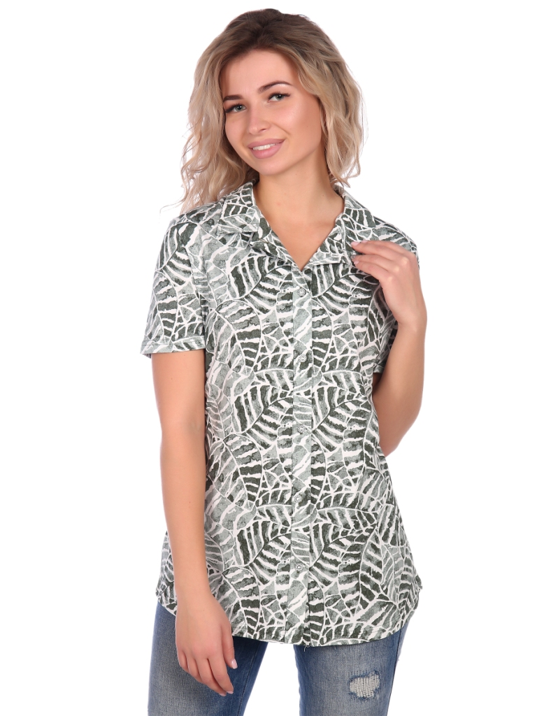 Жен. блузка арт. 16-0656 Зеленый р. 64 фото