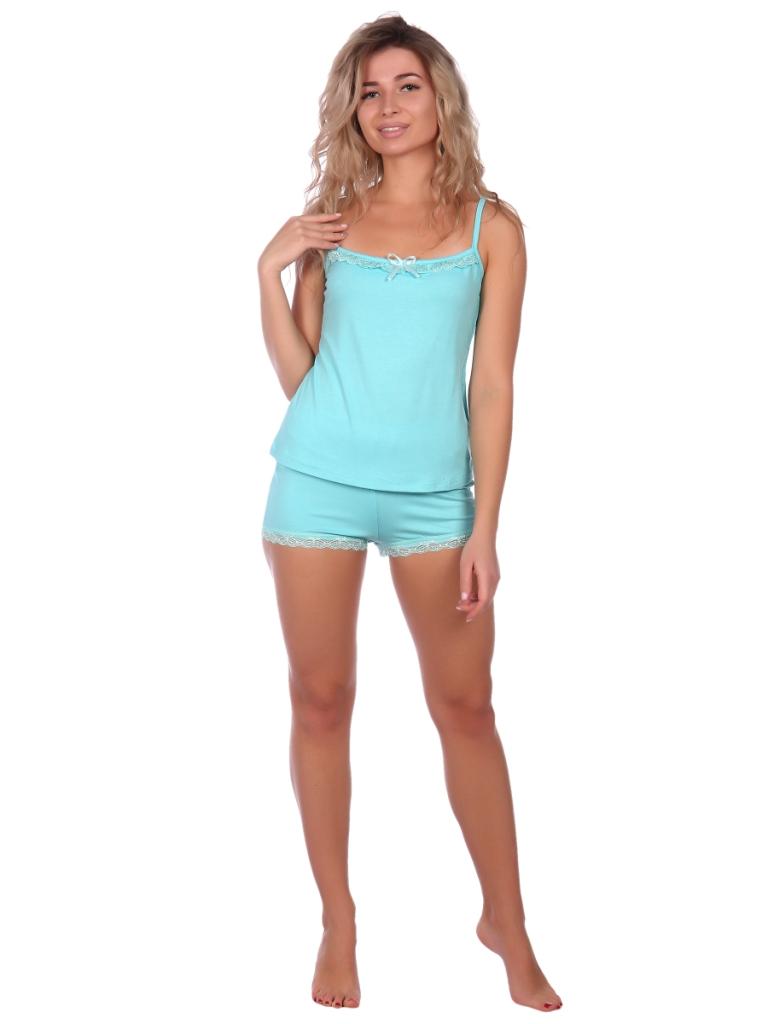 Жен. пижама арт. 16-0573 Голубой р. 52 НСД Трикотаж