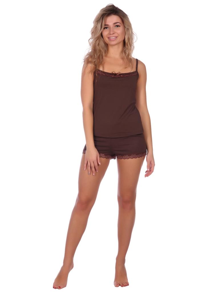 Жен. пижама арт. 16-0573 Какао р. 52 НСД Трикотаж