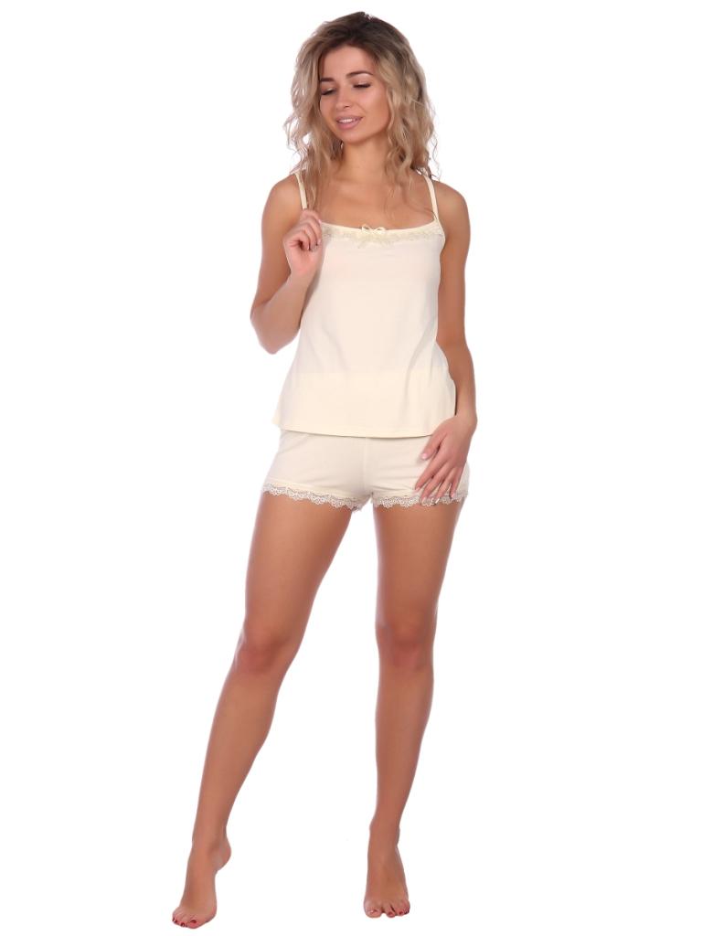 Жен. пижама арт. 16-0573 Молочный р. 42 НСД Трикотаж