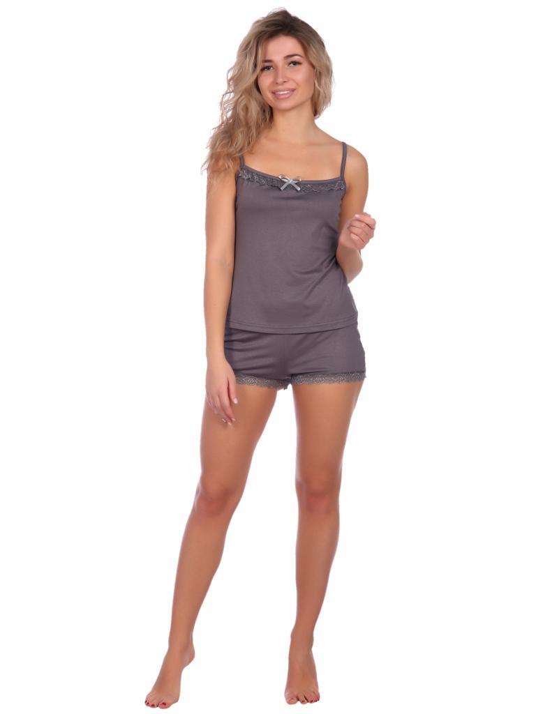 Жен. пижама арт. 16-0573 Темно-серый р. 50 НСД Трикотаж