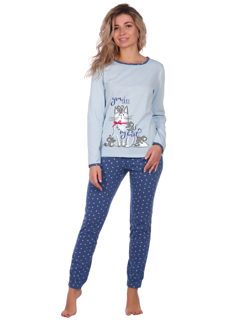 Жен. пижама арт. 16-0661 Голубой р. 42 НСД Трикотаж