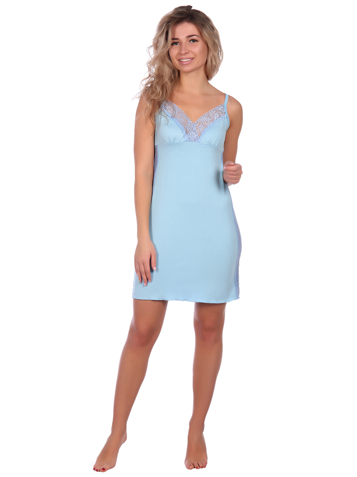 Жен. сорочка арт. 16-0622 Голубой р. 50 НСД Трикотаж