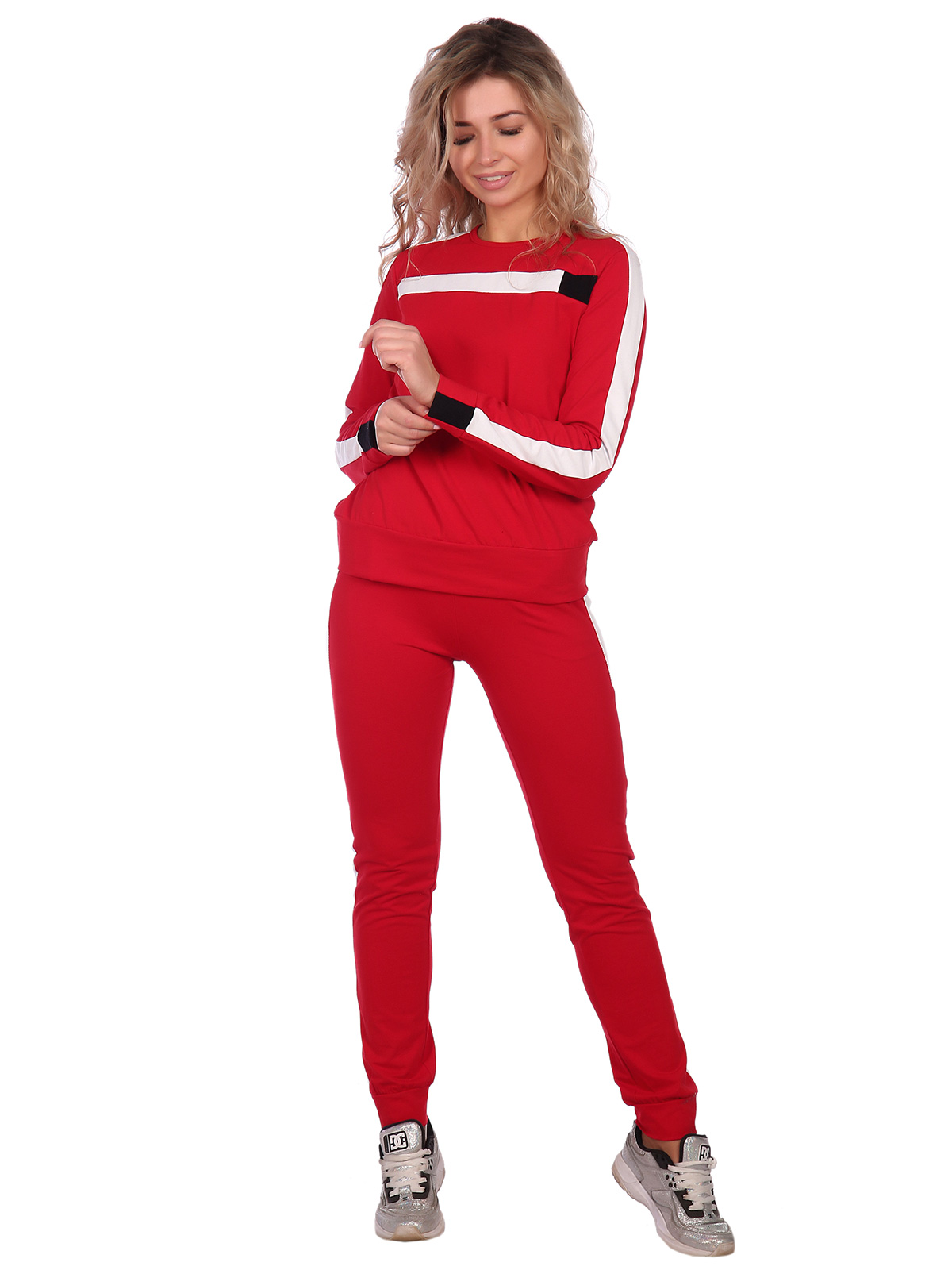 Жен. костюм арт. 16-0668 Красный р. 54 НСД Трикотаж