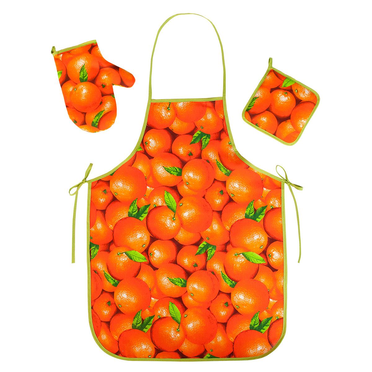 """Кухонные принадлежности """"Апельсины"""" Оранжевый р. 3 пред. — Апельсины Оранжевый"""