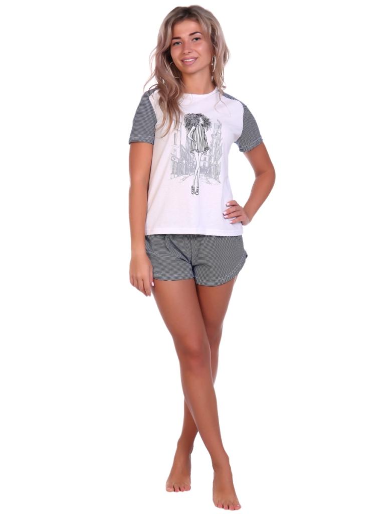 Жен. пижама арт. 16-0676 Черный р. 52 фото