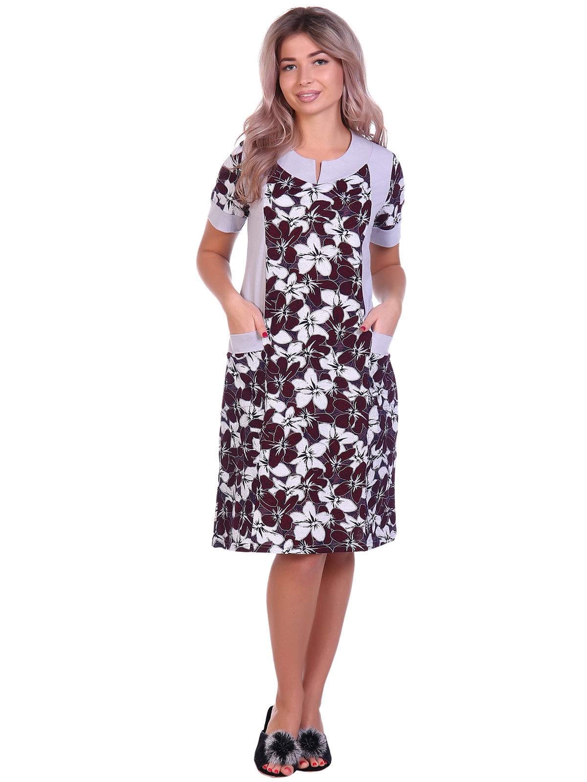 Жен. платье арт. 16-0692 Бордовый р. 56 фото