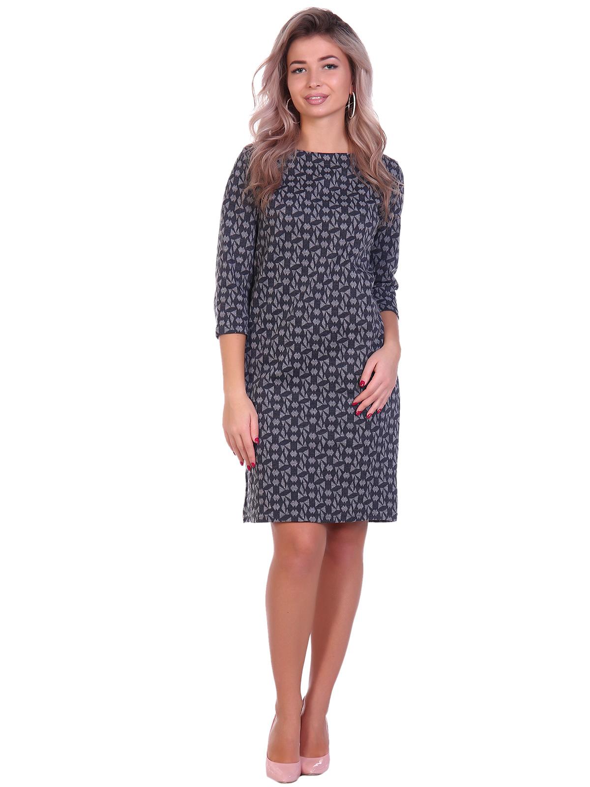 Жен. платье арт. 16-0691 Серый р. 48 фото
