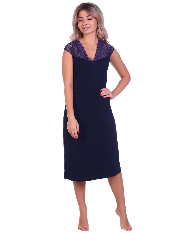 Жен. сорочка арт. 16-0698 Темно-синий р. 60 НСД Трикотаж