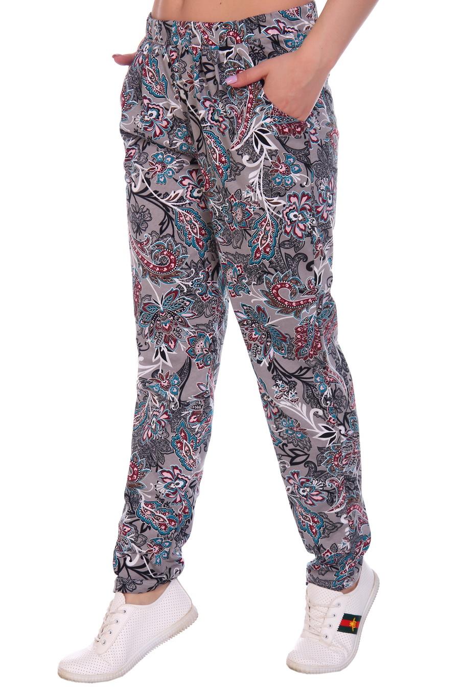 Жен. брюки арт. 17-0120 Серый р. 46 фото