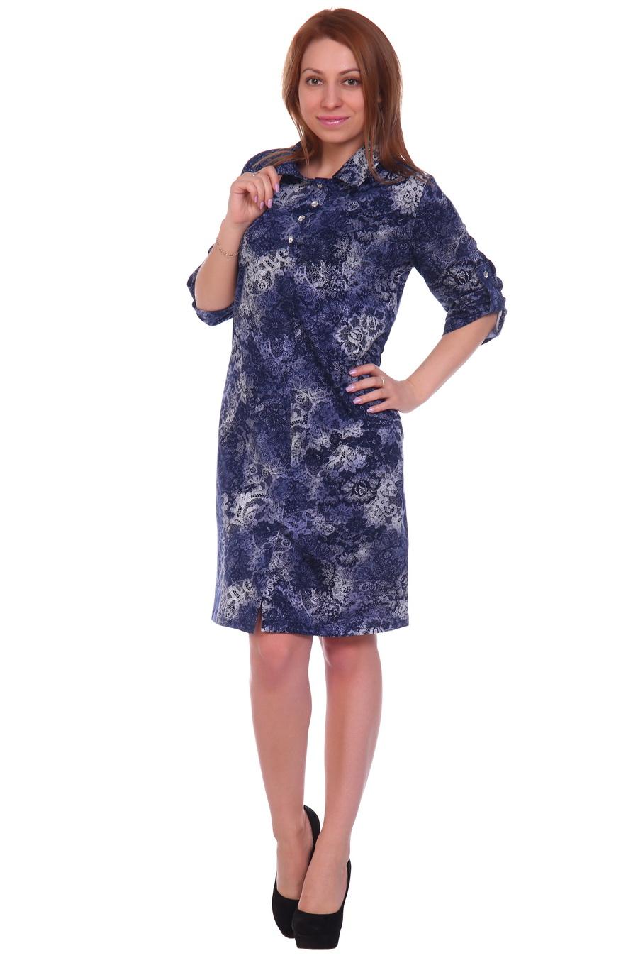 Жен. платье арт. 17-0114 Темно-синий р. 50 фото