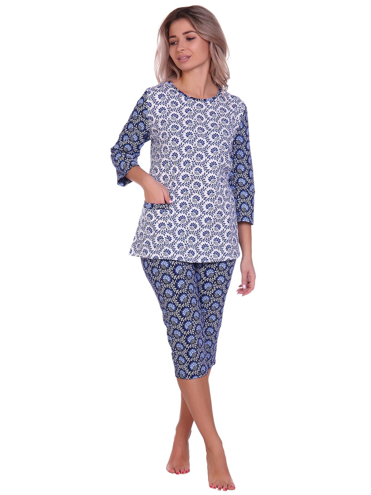 Жен. пижама арт. 16-0705 Синий р. 52 НСД Трикотаж