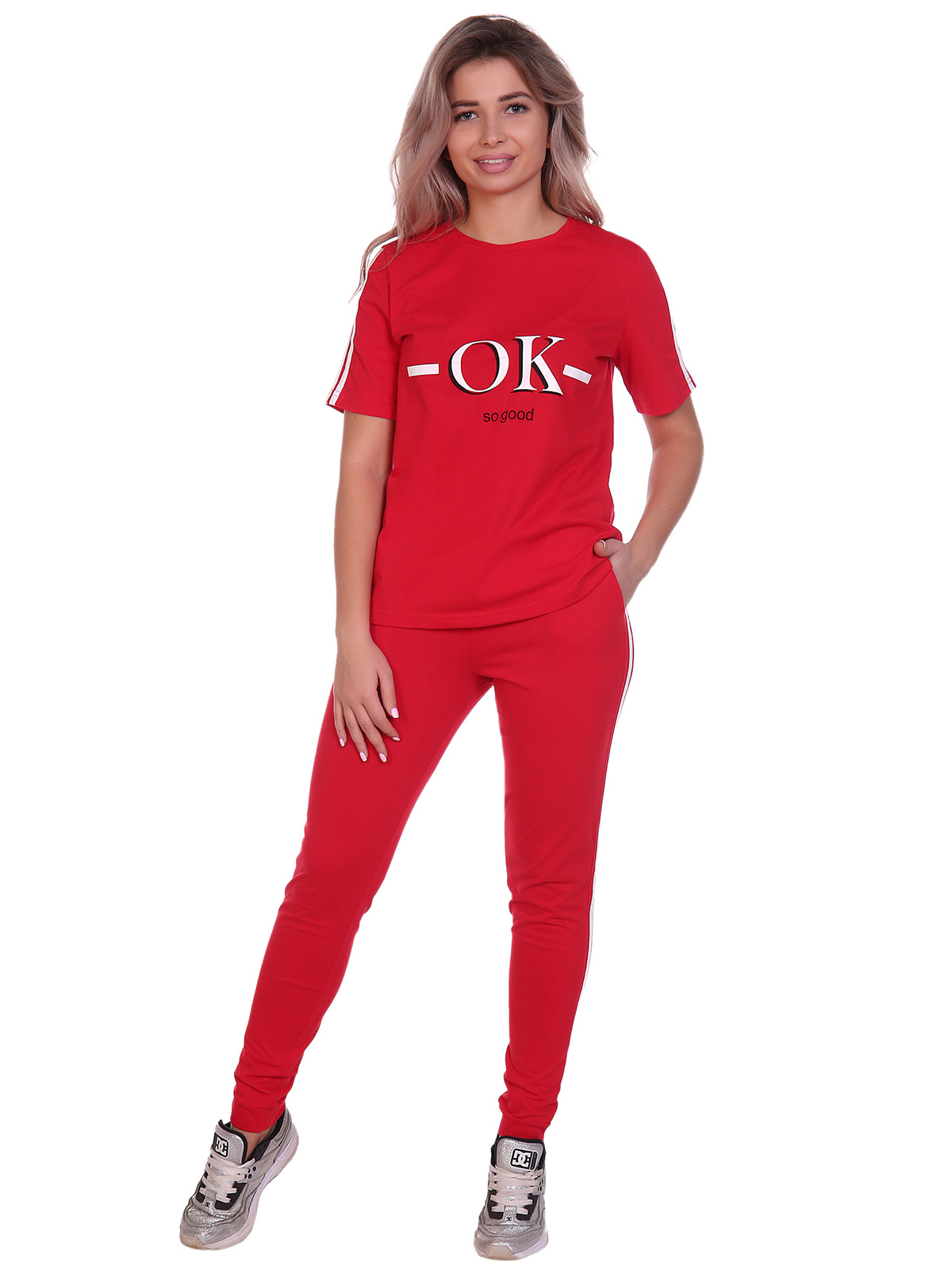 Жен. костюм арт. 16-0491 Красный р. 48 НСД Трикотаж