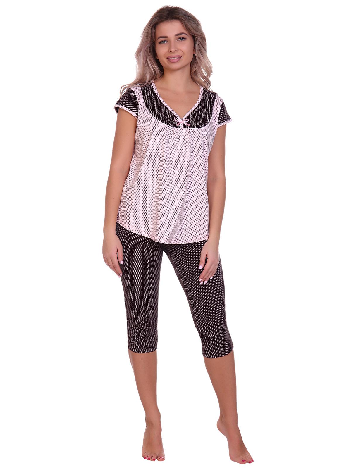 Жен. пижама арт. 16-0703 Розовый р. 46 НСД Трикотаж