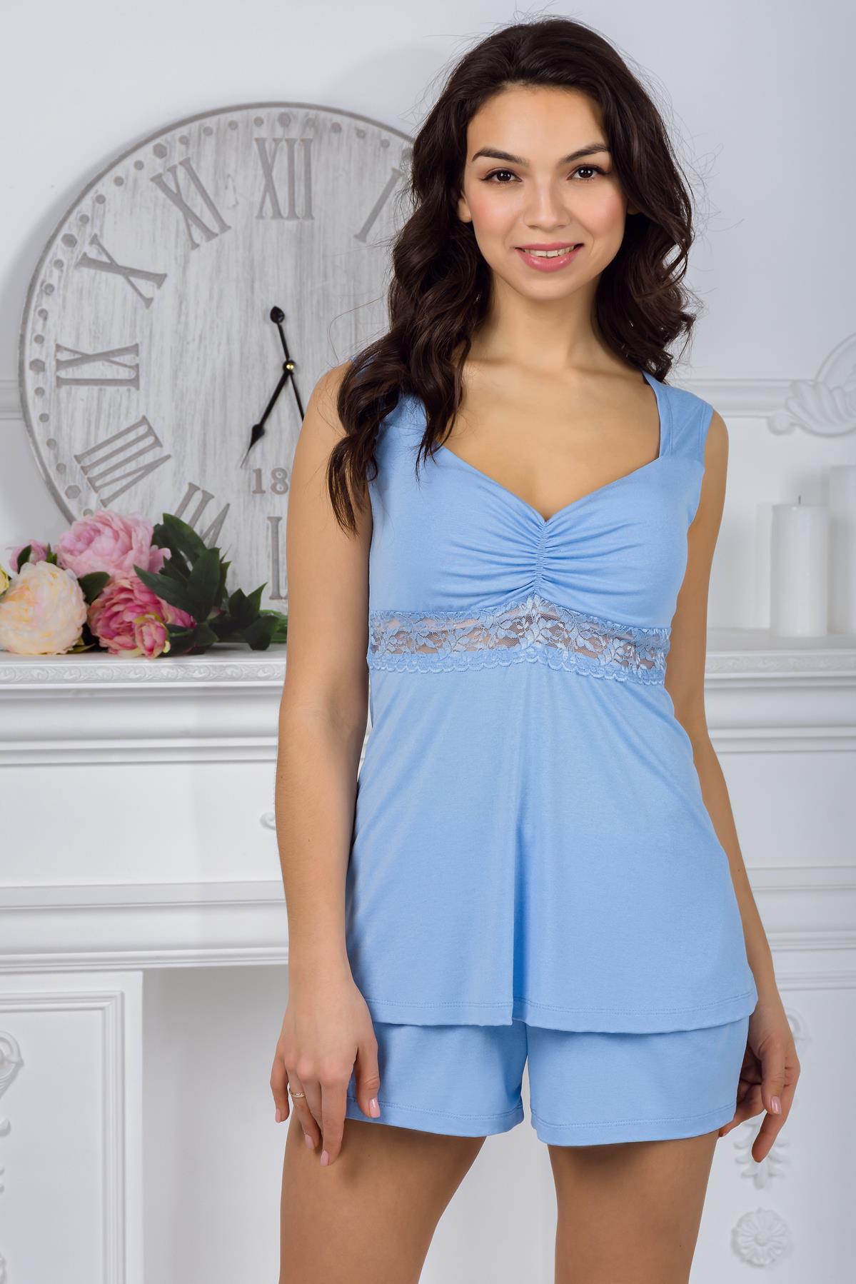 Жен. пижама арт. 19-0427 Голубой лед р. 52 Шарлиз