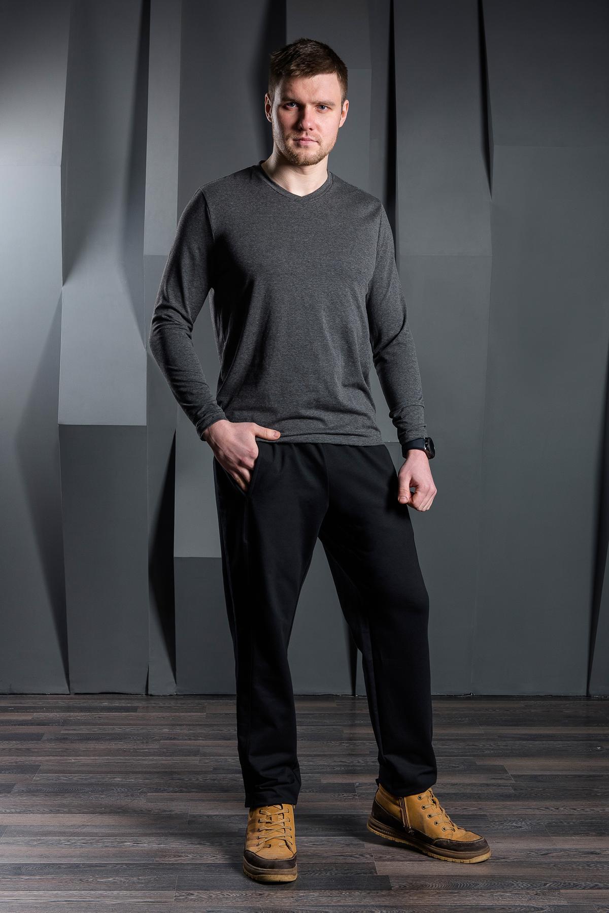Муж. брюки арт. 19-0422 Черный р. 58 фото