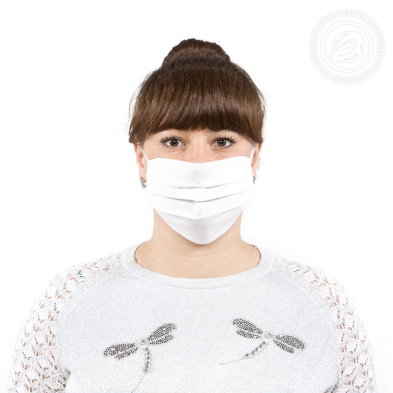 Защитная маска арт. 01-1060 Белый р. 22х15